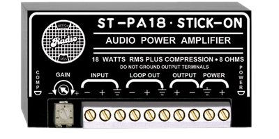 RDL ST-PA18 Audio Power Amplifier 18 Watts RMS, 8 Ohms, Line Level Balanced or Unbalanced Input - Power Supply Included by RDL