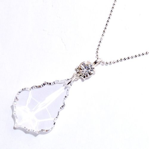 Swarovski Crystal Leaf Necklace in Clear Crystal / Leaf Crystal Drop Necklace / Swarovski Leaf Necklace in Crystal / Swarovski Crystal Leaf Shape Necklace in Crystal
