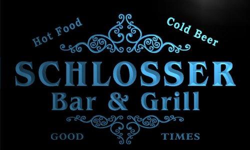 u39875-b-schlosser-family-name-bar-grill-home-brew-beer-neon-sign-barlicht-neonlicht-lichtwerbung