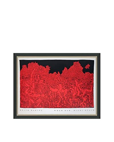"Keith Haring ""Wham Bam Miami Beach"" (Printed In 1985) Framed Poster"