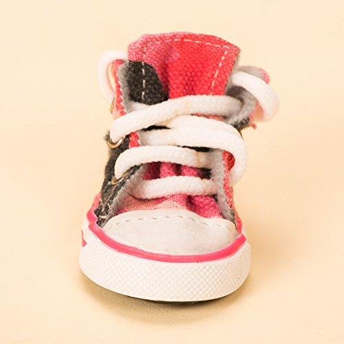 Il Cowboy scarpe piccolo cane Calzature Calzature sportive cani in il barboncino calzature impermeabili traspiranti poodle fornisce l'estate,rosa scarpe cowboy 4 solo 3 codice
