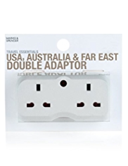 USA, Australia & Far East Double Adaptor