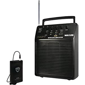 Nady Wa 120 Lt/o/b (115) Portable Vhf Wireless Pa System With Omnidirectional La