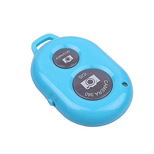 Konsait Bluetooth Wireless Remote Control Camera Photo Selfie Shutter Release Self Timer for iPhone 6 iPhone 6 plus 5S 5C 5 4S 4, iPad Air Mini, Samsung Galaxy S5 S4 S3 Note 4 3 Tab, Google Nexus, HTC, Sony and other iOS Android Phones Blue
