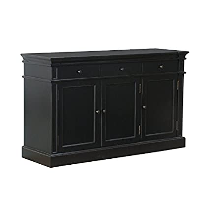 AMARETTA Sideboard Cupboard / Chest of Drawers / Dresser Sideboard Antique Patina Finish Black