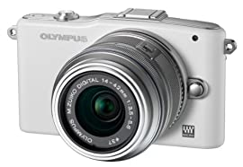 Olympus PEN E-PM1 w/ 14-42mm Lens (White)