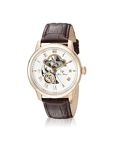 Lucien Piccard Men's LP-12524-RG-02-BRW Brown/White Genuine Leather Watch