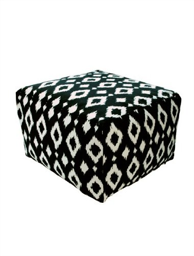 Dormify Poufs - Ink Ikat - Seating, Ottoman, Coffee Table