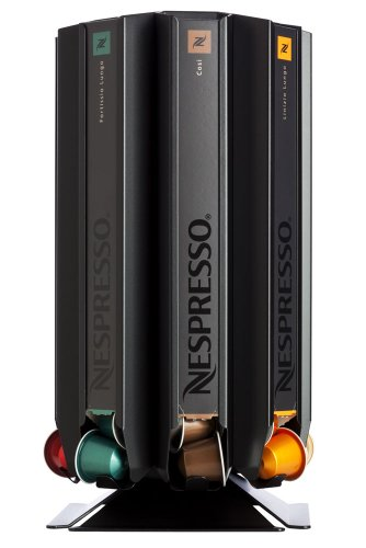 Coffee Pod Dispenser, Capsule Stand CoffeeTower Box N80 Black (matt) for Nespresso from Döring