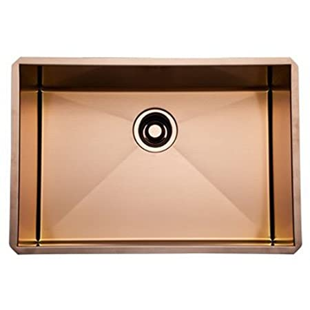 Rohl RSS2416SC Single Bowl 24-Inch Kitchen Sink, Stainless Copper