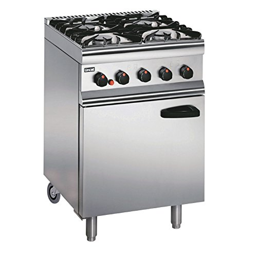 Lincat Silverlink 600 4 Burner Natural Gas Oven with Rear Castors Dimensions: 935(H)x 600(W)x 600(D)mm. Power: 20.1kW. BTU/Hr 68600 Weight 69kg