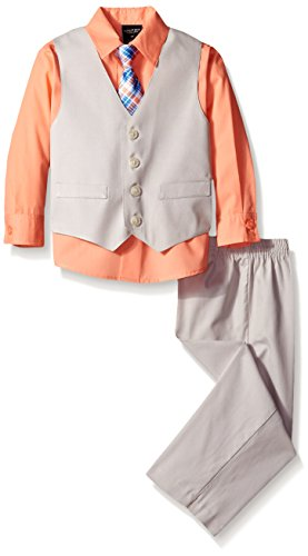 Nautica Little Boys' Texture Vest Set, Camellia, 3T