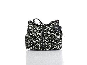Babymel Amanda Mini Daisy Print Diaper Tote Bags, Black/White by Babymel