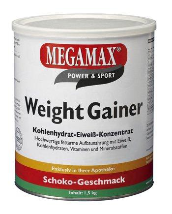 Megamax Weight Gainer Schoko 1,5 kg mit nur 0,7 % Fett