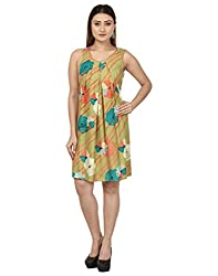 IroIro Women's A-line Dress_OL-1001_S_Beige_Small