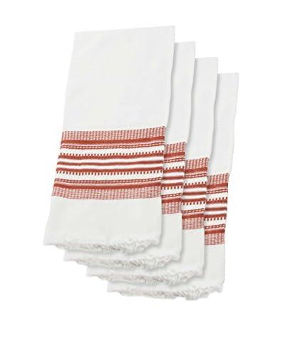 Sobremesa Set of 4 Handwoven Towels, Copper