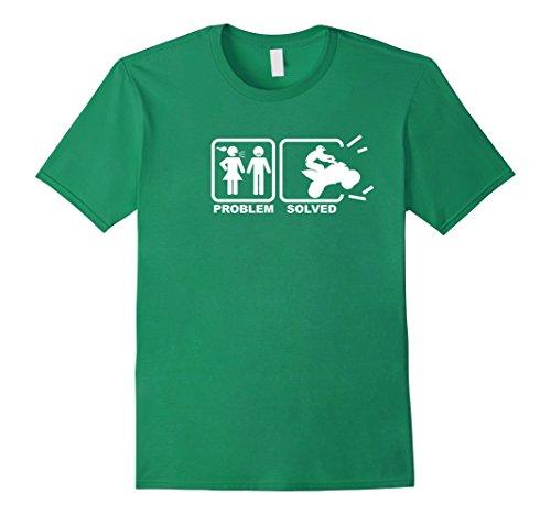 [Men's Funny quad racer T shirt - Problem Solved Medium Kelly Green] (Toddler Girl Racer Costume)