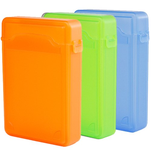 iKross 3 Colors Package - 3.5 Inch IDE/SATA HDD Storage Protection Boxes - Orange,Green and Blue