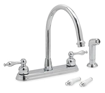 Trident 12U344 Kitchen Faucet Two Handle Chrome Touch