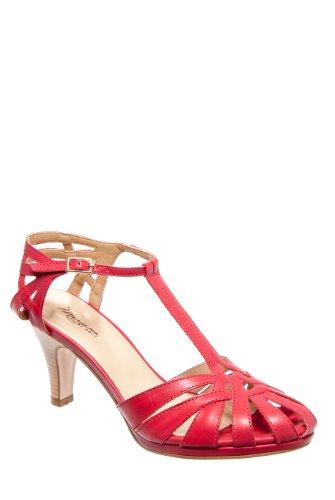 Mariana Sabrina Dressy Mid Heel Sandal - Red