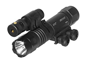 UTG 2-in-1 Tactical LED Flashlight with Red Laser by UTG