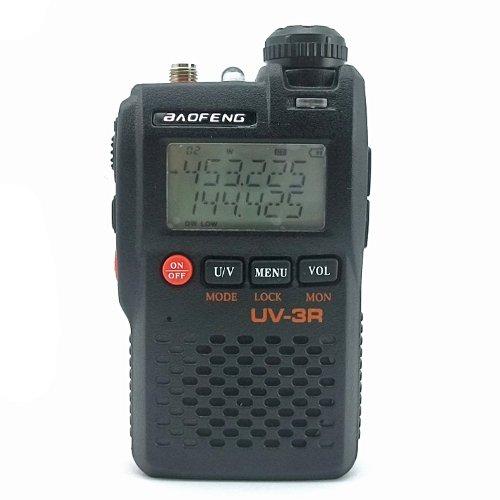 BaoFeng UV-3R 136-174 400-470 MHz Dual-Band Ham Radio Black