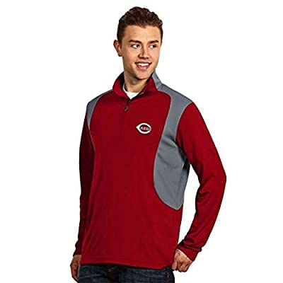 "Cincinnati Reds MLB ""Delta"" Men's Longsleeve Pullover (Dark Red)"