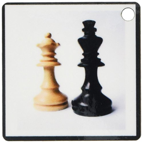3dRose King n Queen Of Chess - Key Chains, 2.25 x 4.5 inches, set of 2 (kc_80372_1)