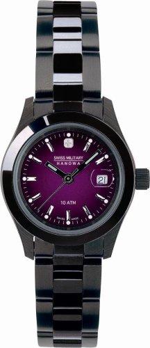 SWISS MILITARY (スイスミリタリー) 腕時計 PVD BLACK ML/191 バイオレット レディース 27mm