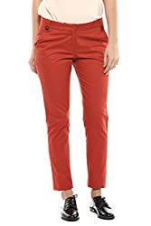Brick Color Cotton Trouser
