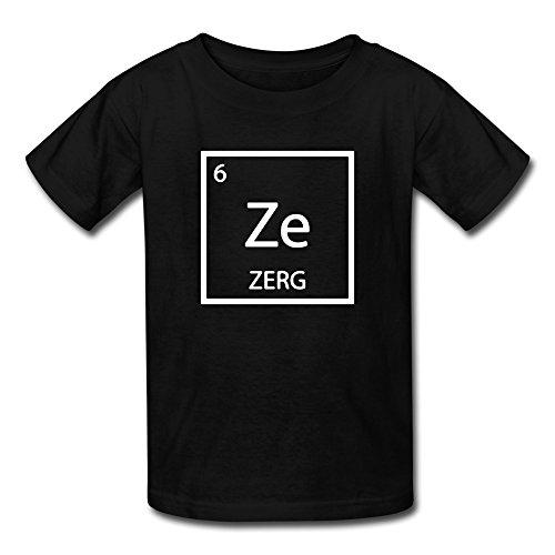 Mzone Funny Child Starcraft 2 Legacy Of The Void Zerg Logo Tee Size S Black
