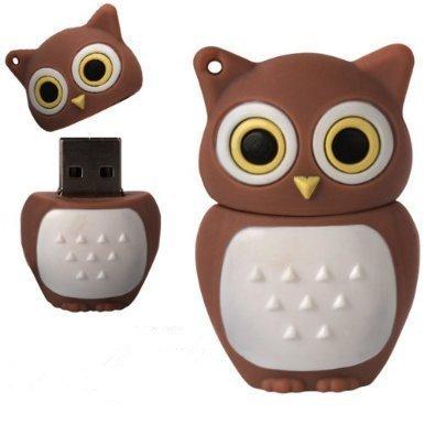 D-CLICK TM High Quality 4GB/8GB/16GB/32GB/64GB/Cool Shape USB High speed Flash Memory Stick Pen Drive Disk (16GB, Brown Owl)