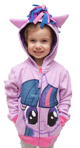 Girls 4-16 My Little Pony Licensed Purple Rarity Costume Sweatshirt Hoodie (5/6)