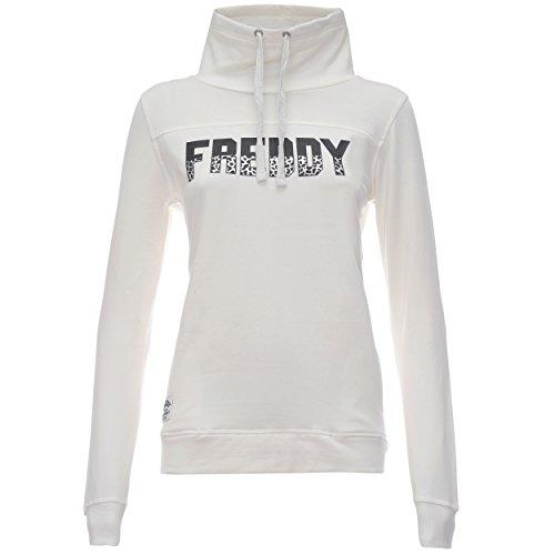 Freddy F6Wtcs8 Felpa, Donna, Bianco Sporco (Off White), Medium (Taglia Produttore:M)