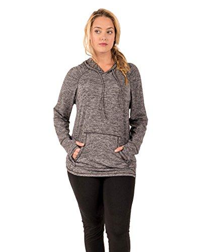 Rbx active women 39 s ultra lightweight fleece long sleeve for Lightweight long sleeve shirts women s