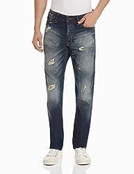 Superdry Men's Slim Fit Jeans (5054265204586_M70MJ003F1_34W x 32L_Heavy Damage)