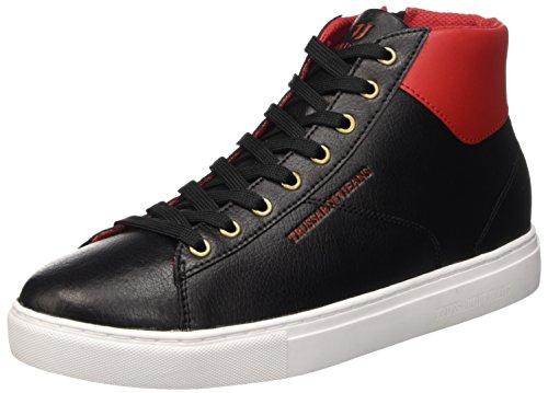 Trussardi Jeans 77S21051, Scarpe Low-Top Uomo, Multicolore (Black/Red), 41 EU