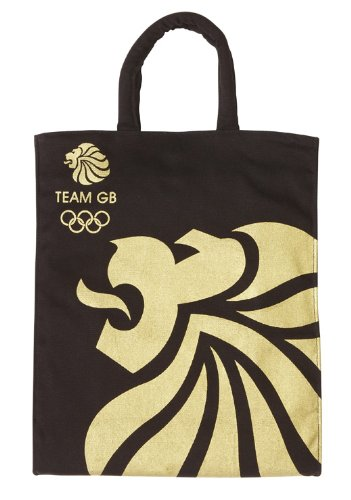 Team GB Black & Gold Medium Canvas Bag