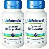 Life Extension Optimized Resveratrol 60 vegetarian capsules (Pack of 2) (Tamaño: 120)