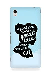 AMEZ a good idea becomes a great idea when you let it out Back Cover For Sony Xperia M4