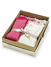 Pure Cotton Spotted & Checked Pyjamas with Socks in Gift Box