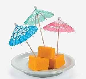 Cocktail Drink Hawaiian Paper Parasol Umbrella Picks, 1008 Picks