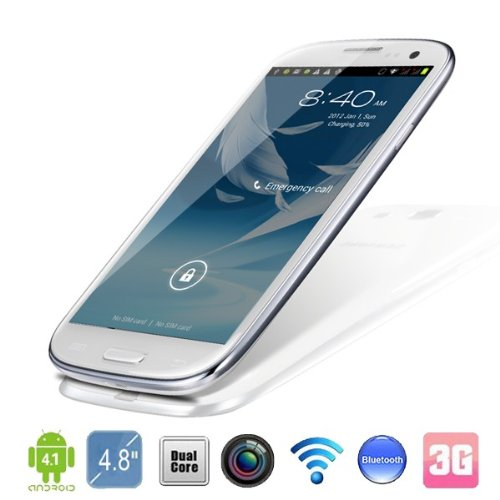 Star G9300 MTK6577 1GHz 4.3 Zoll Android4.0 Dual-Core Smartphone Android Handy Touchscreen Handy (weiß)