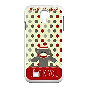 Print Cute Cartoon Character Sock Monkey Pictures TPU Protective Durable Cover Shell for SamSung Galaxy S4 I9500 Case-2