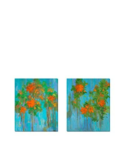 Karen Wilkerson Elan I & II Set On Canvas