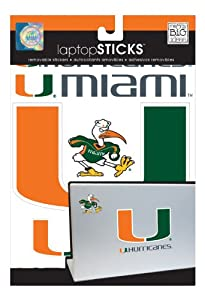 Buy me & my BIG ideas laptopSTICKS Removable Laptop Stickers, Miami Hurricanes by ME & MY BIG IDEAS