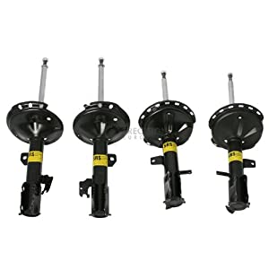4pc Full Set Shocks -2004-2007 Toyota Highlander / Lexus 2004-2006 RX330 & 2007 RX350 AWD (Black)