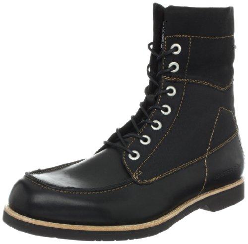 G Star Men's District Carabiner Moc Boot,Black Leather/Textile,8 M US