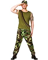Adults Mens Army Soldier Guy Military Forces Fancy Dress Up Party Costume Outfit