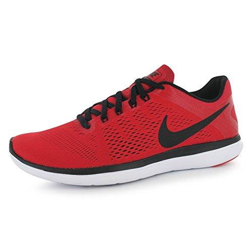 Nike Flex 2016Run Scarpe da corsa da uomo, colore: rosso/nero, Fitness, Sport Sneakers, Red / Black, (UK9) (EU44) (US10)